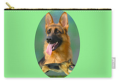 German Shepherd Breed Art Carry-all Pouch