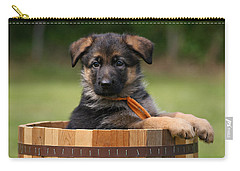 German Shepherd Puppy In Planter Carry-all Pouch by Sandy Keeton