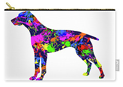 German Shorthaired Pointer Paint Splatter Carry-all Pouch