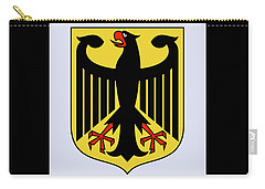 Carry-all Pouch featuring the drawing Germany Coat Of Arms by Movie Poster Prints