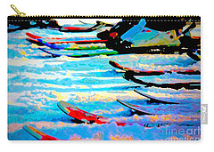 Carry-all Pouch featuring the digital art Get In Line 2017 by Kathryn Strick