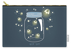 Carry-all Pouch featuring the digital art Get Lit by Heather Applegate