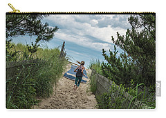 Carry-all Pouch featuring the photograph Get To The Beach by T Brian Jones
