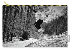 Carry-all Pouch featuring the photograph Getting Air On The Snowboard by David Patterson