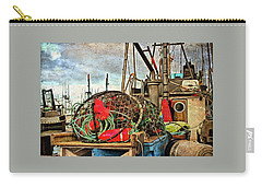 Carry-all Pouch featuring the photograph Crab Rings On Deck by Thom Zehrfeld