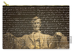 Gettysburg Address Carry-all Pouch by Diane Diederich