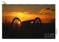 Gettysburg Cannon Sunset Carry-all Pouch by Randy Steele