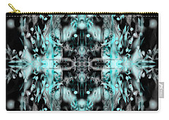 Carry-all Pouch featuring the digital art Ghost Flake Inverted by Reed Novotny