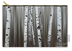 Carry-all Pouch featuring the photograph Ghost Forest 1 by Bob Christopher