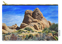 Carry-all Pouch featuring the photograph Ghost Rock - Joshua Tree National Park by Glenn McCarthy Art and Photography