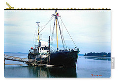 Carry-all Pouch featuring the photograph Ghost Ship - Trawler by Sadie Reneau