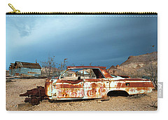 Ghost Town Old Car Carry-all Pouch by Catherine Lau