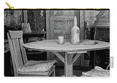 Carry-all Pouch featuring the photograph Ghost Town Table by Tom Singleton