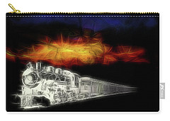 Carry-all Pouch featuring the digital art Ghost Train by John Haldane
