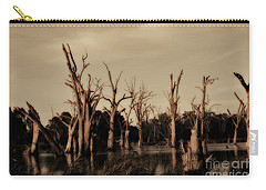 Ghostly Trees V2 Carry-all Pouch by Douglas Barnard