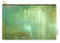 Carry-all Pouch featuring the painting Ghosts In The Water by Michal Mitak Mahgerefteh