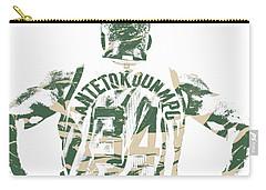 Giannis Antetokounmpo Milwaukee Bucks Pixel Art 22 Carry-all Pouch