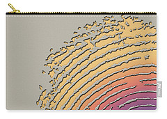 Giant Iridescent Fingerprint On Beige Carry-all Pouch