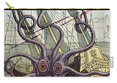 Giant Octopus Carry-all Pouch by Denys Montfort