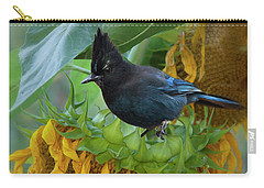Giant Sunflower With Jay Carry-all Pouch