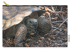Giant Tortoise At Urbina Bay On Isabela Island  Galapagos Islands Carry-all Pouch