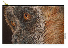Carry-all Pouch featuring the drawing Gibbon by Karen Ilari