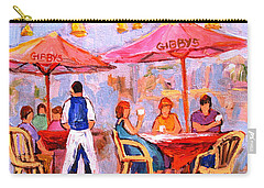 Carry-all Pouch featuring the painting Gibbys Cafe by Carole Spandau