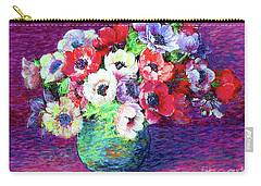 Gift Of Anemones Carry-all Pouch by Jane Small