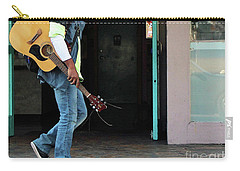 Carry-all Pouch featuring the photograph Gig Less by Joe Jake Pratt