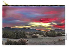 Carry-all Pouch featuring the photograph Gila Mountains And Sonoran Desert Sunrise by Robert Bales