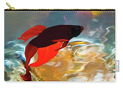 Carry-all Pouch featuring the painting Gilberts Red Beta by Patricia Griffin Brett