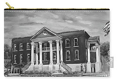 Gilmer County Old Courthouse - Black And White Carry-all Pouch by Jan Dappen
