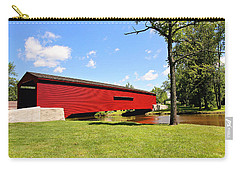 Gilpin's Falls Covered Bridge Carry-all Pouch by Trina  Ansel
