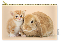 Ginger Kitten And Sandy Bunny Carry-all Pouch