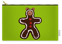 Carry-all Pouch featuring the painting Gingerbread Teddy by Jean Pacheco Ravinski