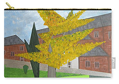 Gingko Tree At St. James Church Carry-all Pouch by Tamara Savchenko