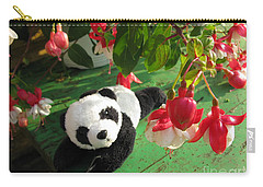Carry-all Pouch featuring the photograph Ginny Under The Red And White Fuchsia by Ausra Huntington nee Paulauskaite