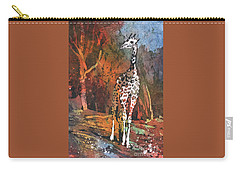 Carry-all Pouch featuring the painting Giraffe Batik II by Ryan Fox