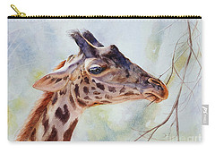 Giraffe Carry-all Pouch by Bonnie Rinier