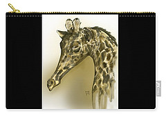 Giraffe Contemplation Carry-all Pouch