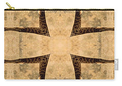 Giraffe Cross Carry-all Pouch by Maria Watt