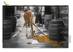 Giraffe Drinking Whiskey Series 4987y Carry-all Pouch