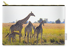 Carry-all Pouch featuring the photograph Giraffe Family by Betty-Anne McDonald
