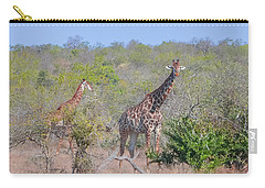 Giraffe Family On Safari Carry-all Pouch