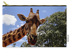 Giraffe Getting Personal 4 Carry-all Pouch
