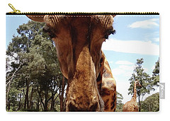 Giraffe Getting Personal 6 Carry-all Pouch