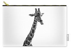 Carry-all Pouch featuring the photograph Giraffe In Black And White 3 by James Sage