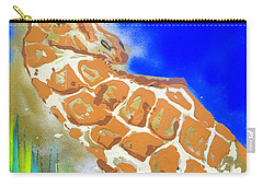 Carry-all Pouch featuring the painting Giraffe by J R Seymour