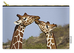 Giraffe Kisses Carry-all Pouch by Michele Burgess