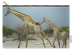 Giraffe Run Carry-all Pouch